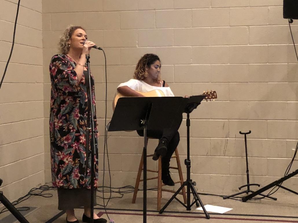 Emma and Megan Performing
