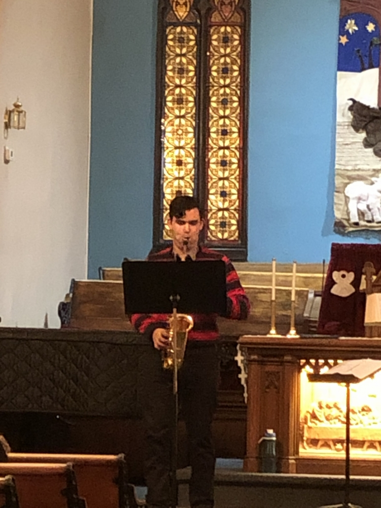 Kannan Serenading Us On the Sax