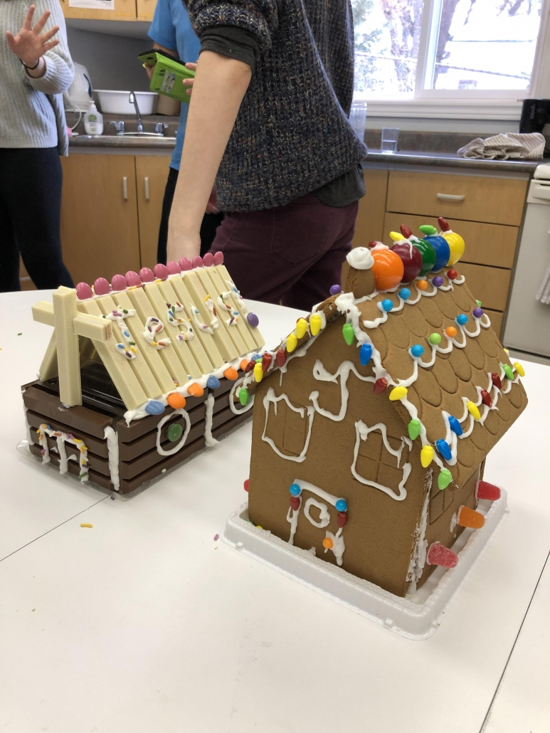 Gingerbread House & Log Cabin